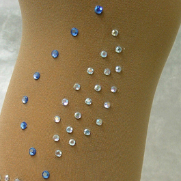 Tight Over Boot Motif Strass