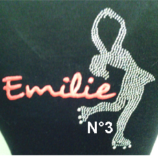 JACKET FIG.3  ROLLER STRASS/EMBROIDERY FIRST NAME