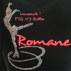 JACKET FIG.5  PIROUETTE CERCLES ROLLER STRASS/EMBROIDERY FIRST NAME