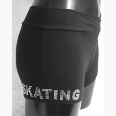 SHORT COTON SKATING STRASS