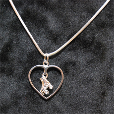 PLATED SILVER COLLAR HEART